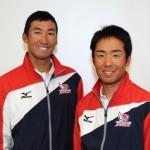 470級男子の日本代表に内定した原田龍之介(右)・吉田雄悟