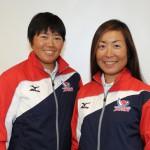 470級女子の日本代表に内定した近藤愛(右)・田畑和歌子