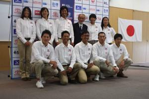 五輪代表に内定した6種目(4艇種)9選手と役員