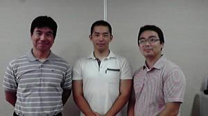 3人の講師の方々。左から神代幸介さん(日大ヨット部)、日座悟志さん、笹生和泰さん
