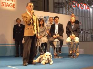 イベントステージでは今年5月にシーボニアで開催されるブラインドセーリング世界選手権のプロモーションが行われた
